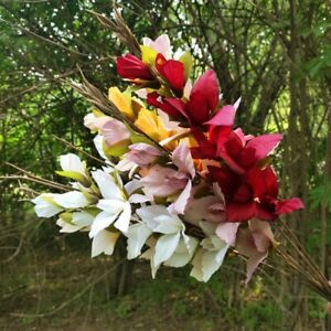 1pc 8 heads 67cm Artificial Silk Butterfly Orchid Flowers Home Party Decoration