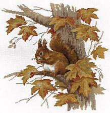 Cross Stitch Embroidery Kit by Panna J-1472 Squirrel