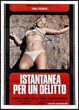 ISTANTANEA PER UN DELITTO MANIFESTO THRILLER ERNA SCHURER 1975 MOVIE POSTER 2F