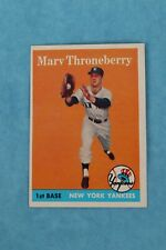 1958 TOPPS #175 MARV THRONEBERRY NEW YORK YANKEES BASEBALL TRADING CARD EX-COND
