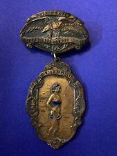 Antique Fraternal Order Of Eagles FOE DELEGATE Badge Santa Cruz Ca. June 5-8
