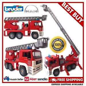 BRUDER MAN TGA Fire Engine with Lights, Sound & Water Pump 1:16 - VERY GOOD USED