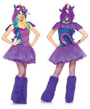 Sexy Purple Darling Dragon Womens Costume sz XS 0-2