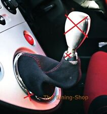 For Honda Civic Type R EP3 01-05 Shift Boot Black Suede Stitching Red