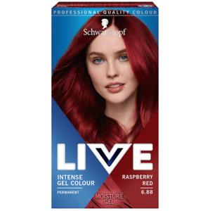 Schwarzkopf Permanent Intense Gel Color Hair LIVE 6.88 Raspberry Red