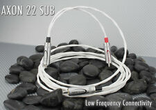 Nerve Audio AXON SUB 22 RCA Silver Subwoofer Interconnect Cable  4 meter