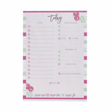 Desk Day Planner Pad To Do List Pink/Notes/Organiser/Tasks/Meal/Drink/Today/NEW