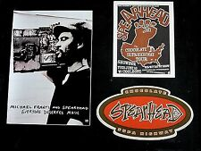 Michael Franti And Spearhead Lot Promo Stickers and Concert Handbill Card