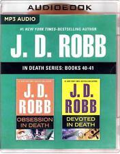 J D Robb In Death Series Books 40-41 Obsession, Devoted Unabridged MP3 Audio