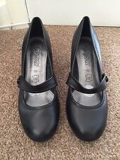 Ladies Black New Look High Heels Size 3