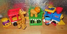 VINTAGE FISHER PRICE LITTLE PEOPLE CHUNKY CIRCUS ANIMAL TRAIN CLOWN FIGURE LOT