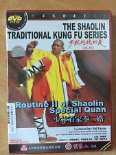Real Shaolin Kung Fu Routine 2 and 3 of Shaolin Special Quan 2 DVD Set
