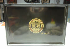 """Couroc Tray State Of Louisana Union, Justice, Confidence 18 X 12.5"""" Monterey Ca."""