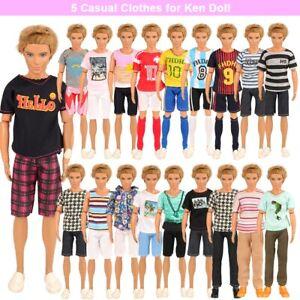 Barbie Ken Clothes Bundle FIVE Casual Outfits Supplied UK SELLER