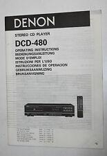Manuale d'uso (BDA) per DENON Lettore CD dcd-480