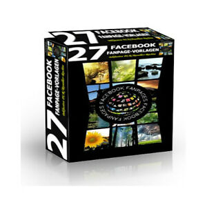 27 FaceBook Fanpage-Vorlagen / Templates - PLR-/Reseller Lizenz