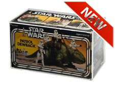 GW Acrylic Vintage Star Wars or Empire Strikes Back Dewback MIB Display Case
