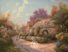 Cobblestone Village - Painter of Light Art Card, Thomas Kinkade Dealer Postcard