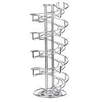 Toplife Spiral Design Stainless Steel Egg Skelter Dispenser Rack,Storage Display