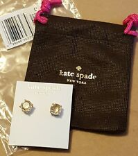 New Authentic Kate Spade NY GumDrop Clear Studs Earrings O0RU0666