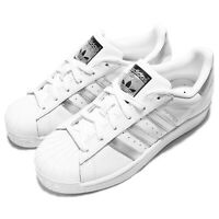 adidas Originals Superstar W White Silver Women Classic Shoes Sneakers AQ3091