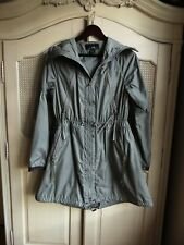 Ralph Lauren X Women's gray drawstring waist hooded rain coat size XS (2-4)