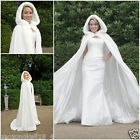 Bridal Winter Wedding Cloak Cape Hooded with Fur Trim Long Bridal Winter