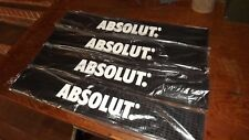 "Absolut Vodka Rubber Bar Spill Mat - Black With White Letters - New - 21"" x 3.5"""