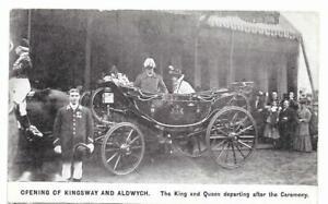 1905 King Edward VII Kingsway and Aldwych Opening Unused London Postcard