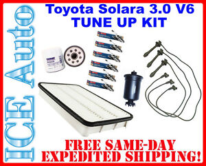 Complete Tune Up Kit 1999-2000 Toyota SOLARA 3.0L V6 (Filters, Plugs, Wires Set)
