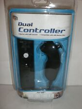 iCONCEPTS BLACK DUAL CONTROLLER FOR WII