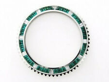 GMT II EMERALD & DIAMOND BEZEL FOR SPORT MODEL ROLEX SS