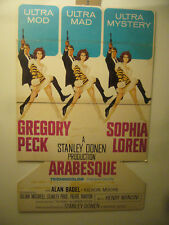 "1966 VINTAGE ARABESQUE MOVIE POSTER ORIGINAL 34""X53"""