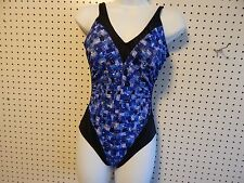 Womens Baltex Body I.D. one piece swimsuit - size 12 C/D - black/multi colors
