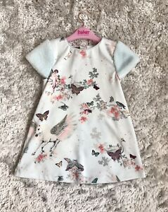 Girls Ted Baker Blue Pegasus Unicorn Occassion Dress 4-5 Years VGC 🎀