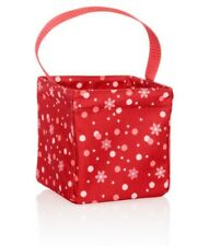 NIP New Thirty One 31 Littles Carry-All Caddy Fun Flurries Red Christmas