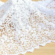 Cream White Lace Trim Fabric Petals Dress Floral Dress Decor DIY Crafts By Metre