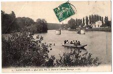 CPA 77 - SAINT MAUR (Seine et Marne) - 2. Quai de la Pie, la Marne et ...