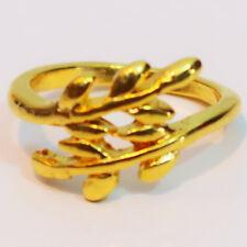 Anillos de mujer ramas y hojas color oro ajustable retro moda fashion ring