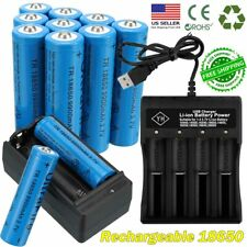 10x UltraFire 18*650 Batteries 3.7V Li-ion Rechargeable Battery Chargers