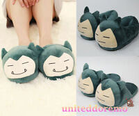 Pokemon Go Snorlax Warm Slippers Indoor Shoes Plush Soft Slippers Cosplay Gifts