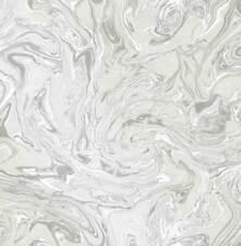 Fine Decor Grey White Silver Luxury Marble Swirl Textured Wallpaper fd24458 Sale