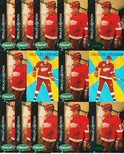 NICKLAS LIDSTROM 14 CARD LOT 1992-93 PARKHURST INTL RISING STAR EMERALD ICE SP