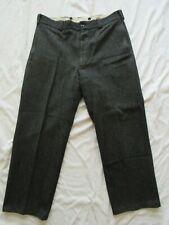 Vtg 60s 70s L.L. Bean Cursive Label Herringbone Wool Work Pants 37.5x28 Gray Usa