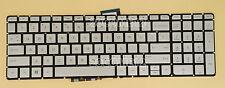 For HP ENVY 17-U000 17t-u100 17t-u000 17-u110nr Keyboard US Backlit Silver