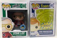 Funko Pop! 2015 Comikaze Exclusive #03 Stan Lee Vinyl Figure & Pop Protector