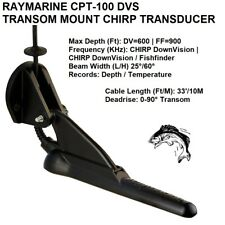 RAYMARINE CPT-100 DVS TRANSOM MOUNT CHIRP TRANSDUCER Cable Length: 33 Feet (10M)