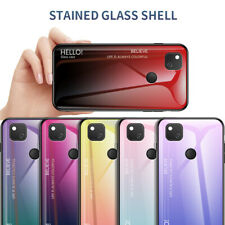 For Google Pixel 4A 4 XL 3A XL 3 XL Gradient Tempered Glass Hard Back Case Cover