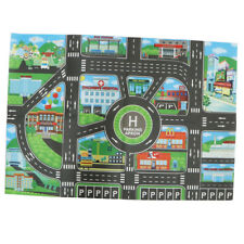 City Traffic Road Track Play Mat Toy Car Playing Game Baby Crawl Carpet Rug