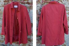 Veste 3/4 Arielle rouge, taille 40, 100% polyester, parfait état